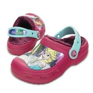 Disney Elsa Anna Frozen Crocs Fleece Lined Clogs